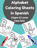 Alphabet Coloring Sheets in Spanish (Upper and Lower Case Set) Colorear alfabeto