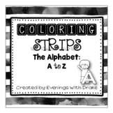 Alphabet Coloring Strips for Lowercase and Uppercase Letters