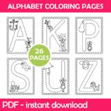 Alphabet Coloring Worksheets Instant Download PDF; Prescho