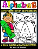 Alphabet Letter Identification and Recognition coloring worksheets