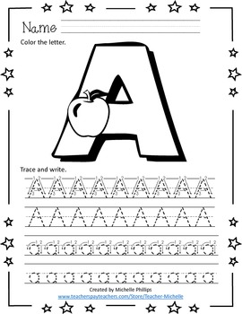 Alphabet Coloring and Tracing Worksheets