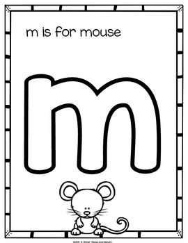 Alphabet Coloring - lowercase letters