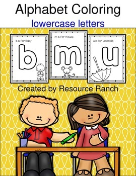 Alphabet Phonics Coloring lowercase letters