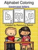 Alphabet Phonics Coloring lowercase letters