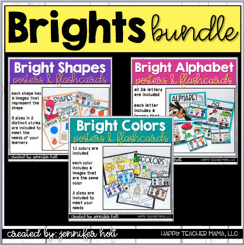 Alphabet, Colors, & Shapes Bundle!