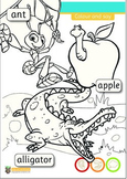 Alphabet Colouring (Children's favourite characters)