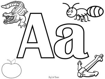 Alphabet Colouring Worksheets
