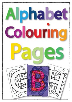Alphabet Colouring-in pages. Decoration and Educational relaxation  PLEASE RATE