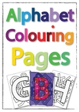 Alphabet Colouring-in pages. Decoration and Educational re