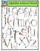 Alphabet Colours Galore {P4 Clips Trioriginals Digital Clip Art}