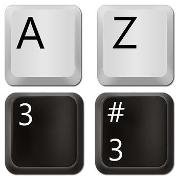 Alphabet Letters: Computer Keys Alphabet Clipart