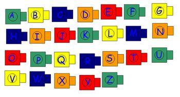 Alphabet Connecting Cubes
