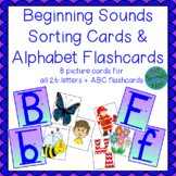 Alphabet Beginning Sounds Sorting Picture Cards ABC Flashcards