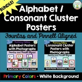 Alphabet / Consonant Cluster Posters with Photos - Primary with White Bundle