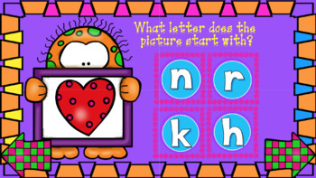 Alphabet Consonant Letter Sounds (Interactive Powerpoint!!) Always $1.00!