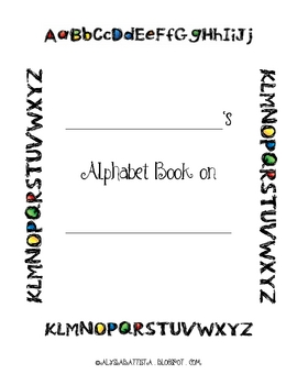 Alphabet Content Book Lists and Pages