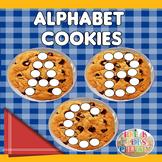 Cookie Alphabet Playdough Mats for Sensory Play