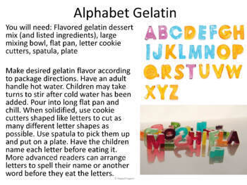 Alphabet Cooking Fun - Literacy Activities with Yummy Food