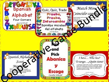 Cooperative Game Bundle: Spanish Alphabet initial letters