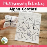 Cootie Catchers: Alphabet | Phonics Games Activities Multisensory
