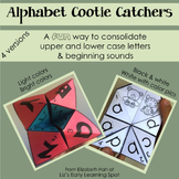 Color Alphabet Cootie Catchers / Fortune Tellers: Letters and Beginning Sounds