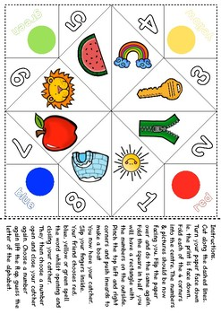 Alphabet Cootie Catchers Freebie.