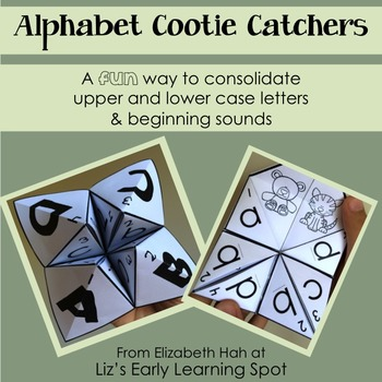Alphabet Cootie Catchers/Fortune Tellers: Letters and Beginning Sounds
