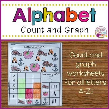 Alphabet Graph alphabet count and graph worksheetsthe picture book cafe | tpt