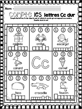 Alphabet- Count and Write the Letters/Alphabet-Compte et écris les lettres