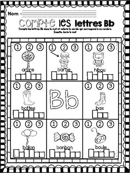 Alphabet- Count and Write the Letters/Alphabet-Compte et écris les lettres