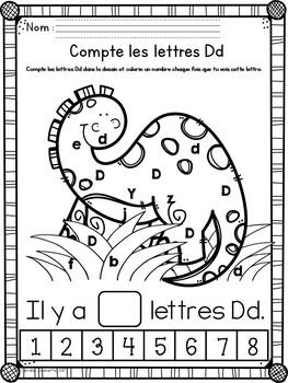 Alphabet- Count the Letters / Alphabet- Compte les lettres dans le dessin
