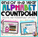 Alphabet Countdown Bulletin Board for the End of the Year