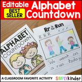 Alphabet Countdown, End of Year Activities, Kindergarten Memory Book