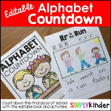 Alphabet Countdown, End of Year Activities, Kindergarten M