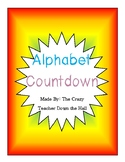 Alphabet Countdown End of Year Activities