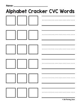 Alphabet Cracker CVC Words