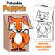 Alphabet Craft Activity - A - Z Animal Puppets - Paper Bag Puppet Templates