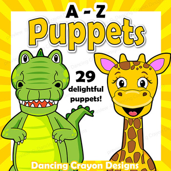 graphic regarding Free Printable Paper Bag Puppet Templates called Alphabet Craft Game - A - Z Animal Puppets - Paper Bag Puppet Templates