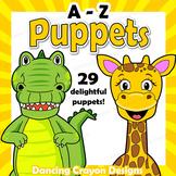 Alphabet Craft Activity A - Z Animal Puppets - Paper Bag Puppet Template BUNDLE