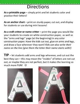 Alphabet Craft Critters