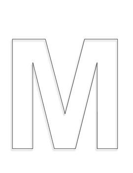 Alphabet Craft: Letter M martian