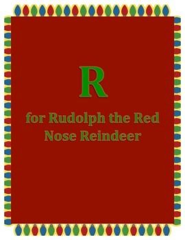 Alphabet Craft: Letter R Rudolph