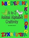 Alphabet Craft: Transform each letter into an animal!