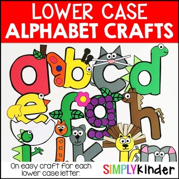 alphabet crafts lowercase by simply kinder teachers pay teachers