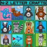 Alphabet Crafts N-Z/Letter Games/Letter Worksheets/Word Reading