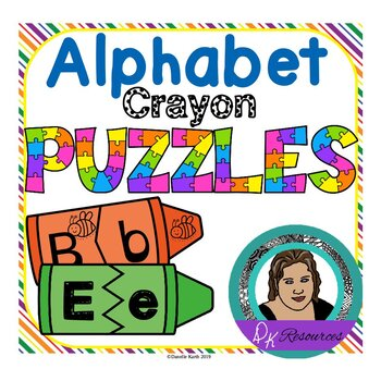 Alphabet Crayon Puzzles - 2 Different Styles for 52 Puzzles!