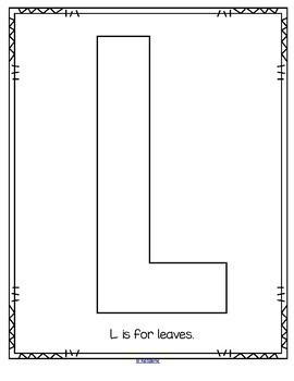 Alphabet Creative Large Letters 3 Sets  - Art, Cut & Paste Pictures, & Blank