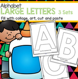 Alphabet Large Letters 3 Sets - Art, Craft, Cut & Paste Pictures, & Blank