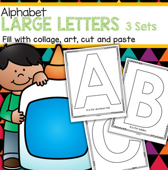 Alphabet Large Letters 3 Sets Art Craft Cut Paste Pictures Blank