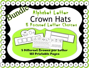 Alphabet Crown Bundle ~ Merging Zoo Phonics & HWT ~ 26 let